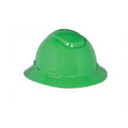 3M - 70071648276-CA - 3M Green HDPE Full Brim Hard Hat With 4 Point Ratchet Suspension, ( Case of 20 )