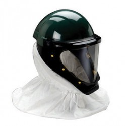 3M - 70071516572 - 3M Standard Polycarbonate Polyester L-Series Green Helmet With Wide View Faceshield (For Use With Adflo Or GVP Turbo Units And Supplied Air), ( Case )