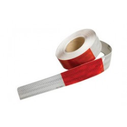 3M - 75030163408 - 3M 2 X 50 yd Red And White Series 963 Conspicuity Flexible Prismatic Marking Tape, ( Case )