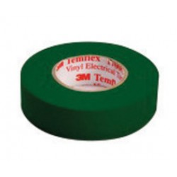 3M - 054007-50651-BX - 3M 3/4 X 66' Green Temflex 1700C 7 mil Flame Retardant PVC General Purpose Single Sided Electrical Tape, ( Box of 10 )
