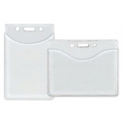 Accuform Signs - DNH373 - Accuform Signs 3 X 4 Clear Vinyl Horizontal Thumbnotch Style Badge Holder (50 Per Pack), ( Package )