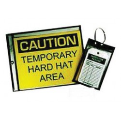 Accuform Signs - DTH208 - Accuform Signs 5 X 8 Vinyl Black Stitched Hanging Document Holder With Metal Grommeted Reinforced Hole (25 Per Box), ( Package )