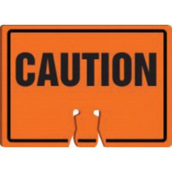 Accuform Signs - FBC752 - Accuform Signs 10 X 14 Black And Orange 0.060 Plastic Cone Top Warning Sign CAUTION, ( Each )