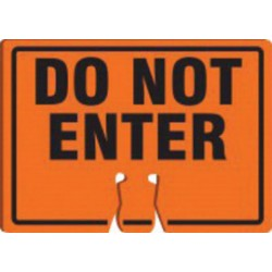 Accuform Signs - FBC768 - Accuform Signs 10 X 14 Black And Orange 0.060 Plastic Cone Top Warning Sign DO NOT ENTER, ( Each )