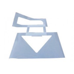 Accuform Signs - FMS252 - Accuform Signs 34 X 42 Straight And 48 X 48 Turn White 0.060 Poly Plastic Message And Symbol Stencil, ( Each )