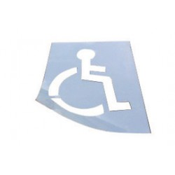 Accuform Signs - FMS258 - Accuform Signs 47 X 34 White 0.060 Poly Plastic Message And Symbol Stencil (HANDICAP SYMBOL), ( Each )