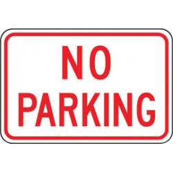 Accuform Signs - FRP156RA - Accuform Signs 12 X 18 Red And White 0.080 Engineer Grade Reflective Aluminum Sign NO PARKING, ( Each )