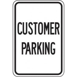 Accuform Signs - FRP194RA - Accuform Signs 18 X 12 Black And White 0.080 Engineer Grade Reflective Aluminum Designated Parking Sign CUSTOMER PARKING, ( Each )