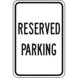 Accuform Signs - FRP217RA - Accuform Signs 18 X 12 Black And White 0.080 Engineer Grade Reflective Aluminum Designated Parking Sign RESERVED PARKING, ( Each )