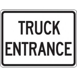 Accuform Signs - FRR045RA - Accuform Signs 18' X 24' Black And White 7 mils Engineer Grade Reflective Aluminum Facility Traffic Sign 'TRUCK ENTRANCE', ( Each )