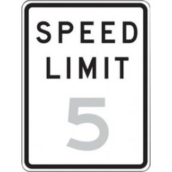 Accuform Signs - FRR21810RA - Accuform Signs 18 X 12 Black And White 7 mils Engineer Grade Reflective Aluminum Speed Limit Sign SPEED LIMIT 10, ( Each )