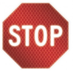 Accuform Signs - FRR339 - Accuform Signs 30 X 30 White And Red 0.080 DG High Prism Aluminum Traffic Sign STOP, ( Each )