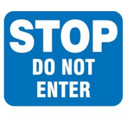Accuform Signs - FRR352 - Accuform Signs 12 X 15 White And Blue 0.080 Reflective Aluminum Railroad Sign STOP DO NOT ENTER, ( Each )