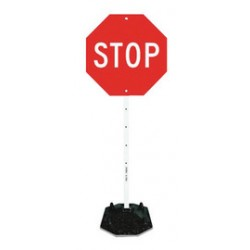 Accuform Signs - FRR900 - Accuform Signs White And Red Portable Sign Kit STOP, ( Each )