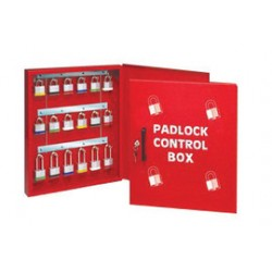 Accuform Signs - KCC318 - Accuform Signs Red 15 1/2 X 18 X 2 Steel Padlock Control Box With Hinge door, Key Lock With 2 Keys And 18 Metal Hooks, ( Each )