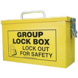 Accuform Signs - KCC612 - Accuform Signs Yellow 10 X 6 X 4 1/4 Steel Portable Group Lock Box Includes (1) Lockable Closure, (1) Top Key Slot And (1) Carry Handle, ( Each )