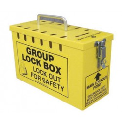 Accuform Signs - KCC614 - Accuform Signs Yellow 10 X 6 X 4 1/4 Steel Portable Group Slot Lock Box Includes (13) Slot Holes, (1) Lockable Closure, (1) Top Key Slot And (1) Carry Handle, ( Each )