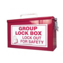 Accuform Signs - KCC615 - Accuform Signs Red 10 X 6 X 4 1/4 Steel Portable Group Lock Box Includes (1) Lockable Closure, (1) Top Key Slot And (1) Carry Handle, ( Each )