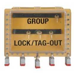 Accuform Signs - KCC633 - Accuform Signs Yellow Group Lockout View Box With Slide Cover, ( Each )