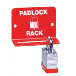 Accuform Signs - KCC703 - Accuform Signs Red And White Steel Padlock Shelf Rack, ( Each )