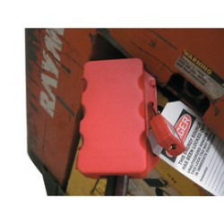 Accuform Signs - KDD204 - Accuform Signs Red 6 1/4 X 3 3/8 X 2 1/2 Plastic Multi-Power Plug Lockout Box With 1/2 Flange, ( Each )