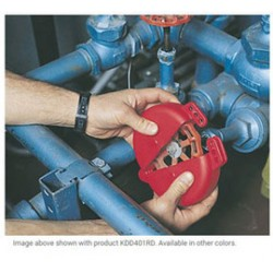 Accuform Signs - KDD401RD - Accuform Signs Red Polypropylene Standard Gate Valve Lockout (Fits 1 - 2 1/2), ( Each )