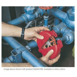 Accuform Signs - KDD406RD - Accuform Signs Red Polypropylene Standard Gate Valve Lockout (Fits 6 1/2 - 10), ( Each )