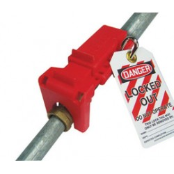 Accuform Signs - KDD438RD - Accuform Signs Red Polypropylene Ball Valve Lockout, ( Each )
