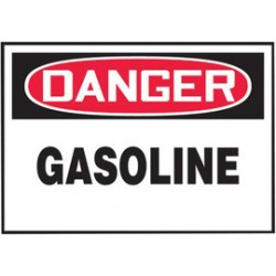 Accuform Signs - LCHL157VSP - Accuform Signs 3 1/2 X 5 Red, Black And White 4 mil Adhesive Vinyl Chemical And Hazardous Safety Label DANGER GASOLINE (5 Per Pack), ( Package )