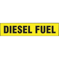 Accuform Signs - LCHL508 - Accuform Signs 2 X 9 Black And Yellow 6 mil Adhesive Dura-Vinyl Container Label DIESEL FUEL, ( Each )