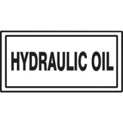Accuform Signs - LCHL586 - Accuform Signs 3 X 7 Adhesive Dura Vinyl Chemical And Hazardous Safety Label HYDRAULIC OIL, ( Each )