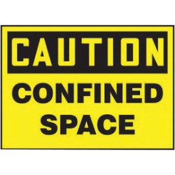 Accuform Signs - LCSP604VSP - Accuform Signs 3 1/2 X 5 Black And Yellow 4 mil Adhesive Vinyl Confined Space Safety Label CAUTION CONFINED SPACE (5 Per Pack), ( Package )
