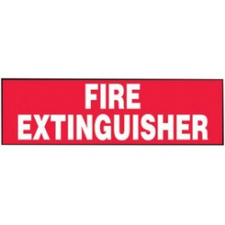 Accuform Signs - LFXG420VSP - Accuform Signs 3 X 7 White And Red 4 mil Adhesive Vinyl Fire Safety Label FIRE EXTINGUISHER (5 Per Pack), ( Package )