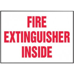 Accuform Signs - LFXG438VSP - Accuform Signs 5 X 7 Red And White 4 mil Adhesive Vinyl English Fire Safety Label FIRE EXTINGUISHER INSIDE (5 Per Pack), ( Each )