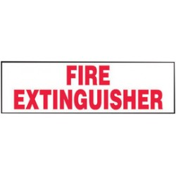 Accuform Signs - LFXG570VSP - Accuform Signs 3 X 10 Red And White 4 mil Adhesive Vinyl Fire Safety Label FIRE EXTINGUISHER (5 Per Pack), ( Package )