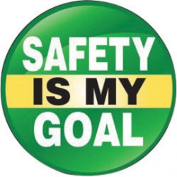 Accuform Signs - LHTL116 - Accuform Signs 2 1/4 Diameter Black, White, Yellow And Green 4 mil Adhesive Vinyl Hard Hat/Helmet Decal SAFETY IS MY GOAL (10 Per Pack), ( Package )