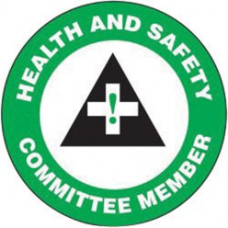 Accuform Signs - LHTL133 - Accuform Signs 2 1/4 Diameter Green And White 4 mil Adhesive Vinyl Hard Hat/Helmet Decal HEALTH AND SAFETY COMMITTEE MEMBER (With Graphic) (10 Per Pack), ( Package )