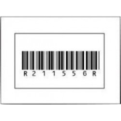 Accuform Signs - LMC234 - Accuform Signs 2 X 3 1/2 Black And White Magnetic Sleeve Holder Card Label (50 Per Pack), ( Each )