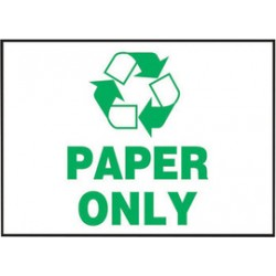Accuform Signs - LRCY507VSP - Accuform Signs 3 1/2 X 5 Green And White 4 mil Adhesive Vinyl Housekeeping Safety Label PAPER ONLY (With Graphic) (5 Per Pack), ( Package )