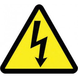 Accuform Signs - LSGW1752 - Accuform Signs 2 Yellow And Black 6 mil Adhesive Dura-Vinyl ISO Safety Label WARNING ELECTRIC VOLTAGE HAZARD (10 Per Pack), ( Package )