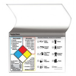 Accuform Signs - LZN415 - Accuform Signs 3 1/2 X 5 Black And White Self-Laminating Adhesive Vinyl Label With Polyester Over-Laminate Flap (25 Per Roll), ( Package )