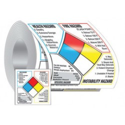 Accuform Signs - LZN646EV2 - Accuform Signs 6 X 6 Adhesive Poly Label NFPA Diamond Roll (250 Per Roll), ( Roll )