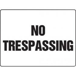 Accuform Signs - MADM912VA - Accuform Signs 18 X 24 Black And White 0.040 Aluminum Construction BIGSigns NO TRESPASSING With Round Corner, ( Each )