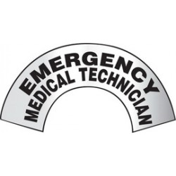 Accuform Signs - MRBWRV05RFV - Accuform Signs 3 X 6 7/8 Black And Gray Reflective Sheet Emergency Response Helmet Sticker EMERGENCY MEDICAL TECHNICIAN, ( Each )
