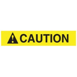 Accuform Signs - MRHH620XV - Accuform 2' X 9' Black/Yellow Dura-Vinyl Adhesive Safety Sign, ( Each )