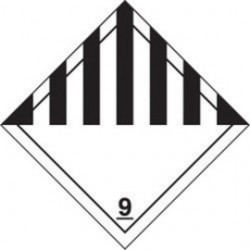 Accuform Signs - MSL901EV5 - Accuform Signs 4' X 4' Black And White Adhesive Vinyl HAZARD CLASS 9 Label 'MISCELLANEOUS DANGEROUS GOODS', ( Roll )