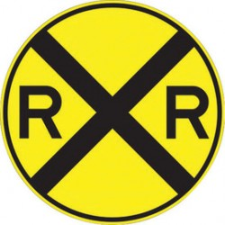 Accuform Signs - MW1013030RA - Accuform Signs 30 Diameter Black And Yellow 7 mils Engineer Grade Reflective Aluminum Rail Sign, ( Each )