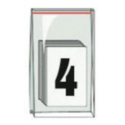 Accuform Signs - NAK1014 - Accuform Signs 3 1/2 Black And White Pressure Sensitive Adhesive Vinyl Individual Number Label 4 (50 Per Pack), ( Each )