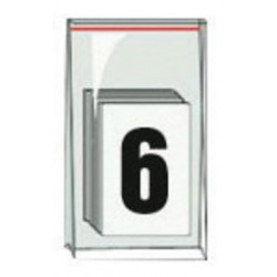 Accuform Signs - NAK1016 - Accuform Signs 3 1/2 Black And White Pressure Sensitive Adhesive Vinyl Individual Number Label 6 (50 Per Pack), ( Package )