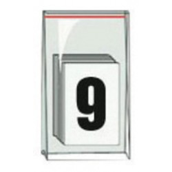 Accuform Signs - NAK1019 - Accuform Signs 3 1/2 Black And White Pressure Sensitive Adhesive Vinyl Individual Number Label 9 (50 Per Pack), ( Each )